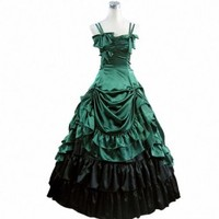 Partiss Womens Gothic Victorian Ruffles Prom Lolita Dress