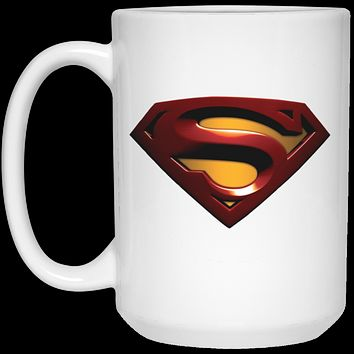 Superman S Shield V3 21504 15 oz. White Mug