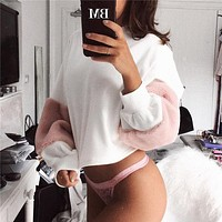 Winter Women's Fashion Hot Sale Long Sleeve Stylish Round-neck Hoodies
