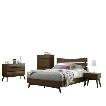Everly 5 Piece Queen Bedroom Set Walnut MOD-6111-WAL-SET