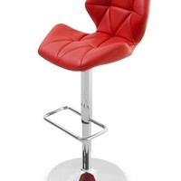 Aaron Barstool red eco leather