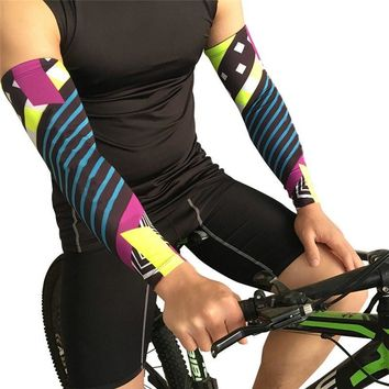 Man Cycling Compression Gloves Arm Warmer for Sports Running Bike Basketball Golf Elbow Arm Sleeves Cover Sun UV Protection