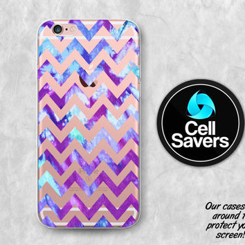 Chevron Pattern Clear iPhone 6s Case iPhone 6 Case iPhone 6 Plus Case iPhone 6s Plus iPhone 5c Case iPhone 5 Clear Case Purple Tie Dye Cute