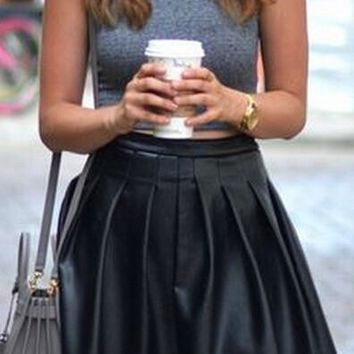 hot black skirt