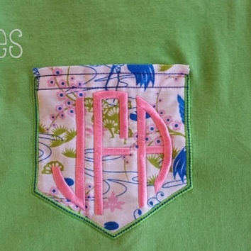 Monogrammed Pocket Shirts