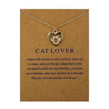 Cat Lover Paw Necklaces