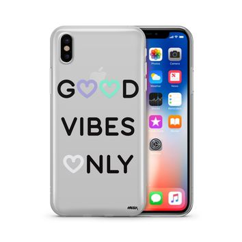 Good Vibes Only - Clear TPU Case Cover Phone Case