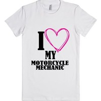 Motorcycle Mechanic (T Shirt)-Female White T-Shirt