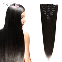 Remy Clip In Human Hair Extensions