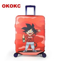 OKOKC Spring Cartoon Travel Luggage Protective Cover, Thicken Suitcase Luggage Cover Elastic Cover for 18-32 inch Suitcase,Trav