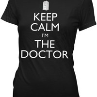 Doctor Who Keep Calm I'm the Doctor Womens Juniors T-shirt