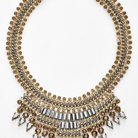 Women's Tasha Mixed Media Bib Necklace
