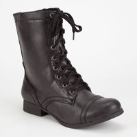 SODA Relax Combat Womens Boots   Boots & Booties