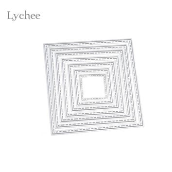 1 Set DIY Square Cutting Dies Stencils Embossing Card Scrapbooking Album Decoration Craft Die Cutting Template Folder Suit