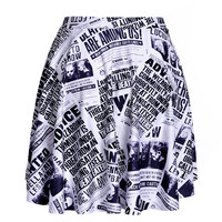 Harry Potter Newspaper SKATER SKIRT