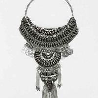 Taza Leather Chain Statement Necklace-