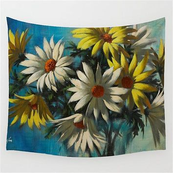Surreal Sunflowers Tapestry