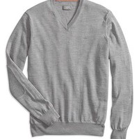 Dockers Merino V-Neck Sweater - Grey Heather - Men's