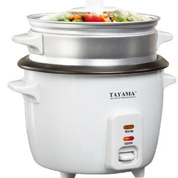 Tayama Rice Cooker with Steam Tray - 8 Cup (RC-8)