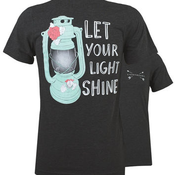 Southern Couture Lightheart Let Your Light Shine Triblend Back Print T-Shirt