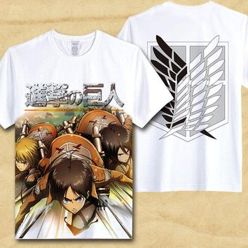 Attack On Titan T Shirt Shingeki No Kyojin Mikasa T-shirt  Trendy Japaness Comics Anime cosplay hot sale Tshirt gift clothing