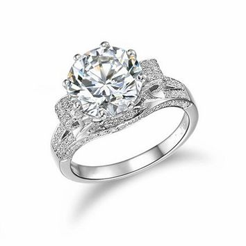 Victoria Wieck Luxury Jewelry 925 Sterling Silver 5A Cubic Zirconia Simulated stones Wedding Engagement Custom Ring Gift SZ5-11