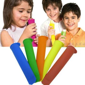 DCCKU7Q Super Deal New Ice Pop Makers Popsicle Molds New Safe Silicone Freezer Ice Cream Maker Mold XT