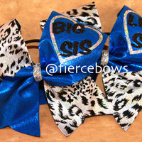 Cheetah Big Sis Lil Sis Cheer Bows