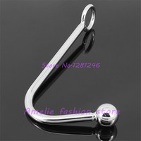 304 Stainless Steel Anal Hook Metal Butt Plug with Ball Anal Plug Anal Dilator Gay Sex Toys for Men and Women Adult Games