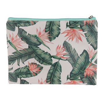 Plant Print Vinyl Cluch Pouch Bag Accessory 17