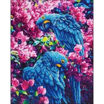 "Blue Parrot Diamond Dotz Diamond Embroidery Facet Art Kit 23.5""X17.75"""