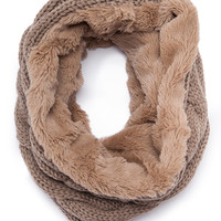 Come With Me Taupe Scarf