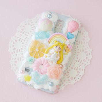 CUSTOM Sailor Moon Decoden iPhone Samsung Phone Case Kawaii Cute