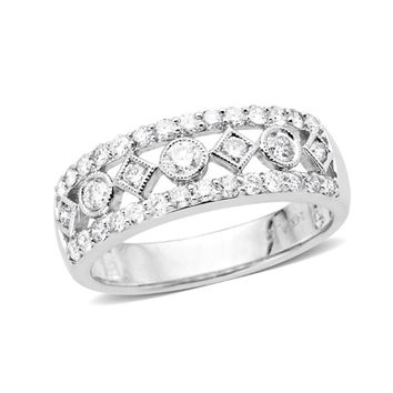 3/4 CT. T.W. Diamond Band in 10K White Gold - Size 7