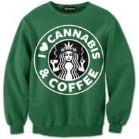 Cannabis and Coffee Crewneck