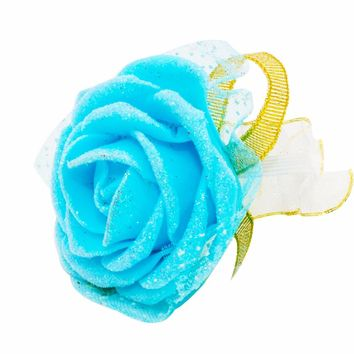 6pcs Rose Wrist Corsage Bridesmaid Sisters Hand Flowers Artificial Bride Flowers For Wedding Party Decoration Bridal Prom