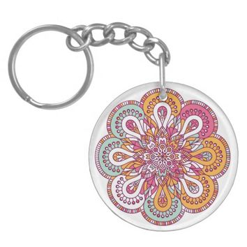 Indian Mandala Keychain