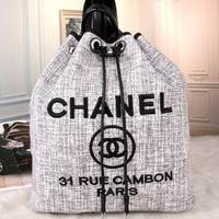 shosouvenir :CHANEL Women Shopping Bag Leather Tote Handbag Satchel Shoulder Bag
