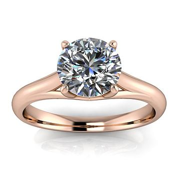 8 mm Solitaire Moissanite Engagement Ring Forever One - Giselle