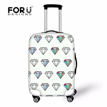 FORUDESIGNS Diamond Print Suitcase Cover Anti Dust Trolley Emoji Suitcase Protect Case Covers Emoji Cartoon Made For 18-30 Inch