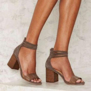 Women New 2018 Strap Wrap Ankle Sandals - Small Heel - Free Shipping