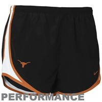 Nike Texas Longhorns Ladies Black NikeFIT Tempo Performance Training Shorts
