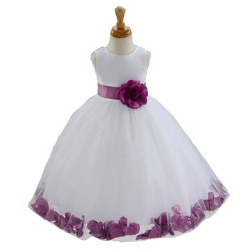 Flower Girl Dress For Wedding Party Baby Girl Clothing Princess Dresses Girls Children Costume For 3 4 5 6 7 8 Years Old Girl