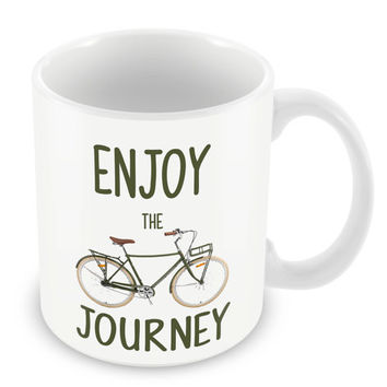 Enjoy the Journey Mug Quote Coffee Cup Family Motivation Home Novelty PP26