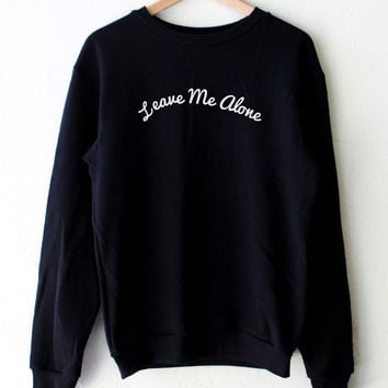 Leave Me Alone Oversized Sweater - Black
