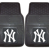 New York Yankees Heavy Duty 2-Piece Vinyl Car Mats