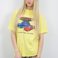 Vintage Mershon's World of Cars T Shirt