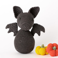 Bat Halloween Amigurumi Toy - Crochet Bat Halloween, Halloween Bat Toy Plush, Bat Stuffed Toy, Halloween Decor