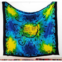 Multi Tye Dye Sun Wall Hanging Dorm Tapestry Wall Hanging – TheNanoDesigns