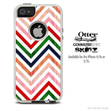 The Sharp Chevron Fall Colered Skin For The iPhone 4-4s or 5-5s Otterbox Commuter Case